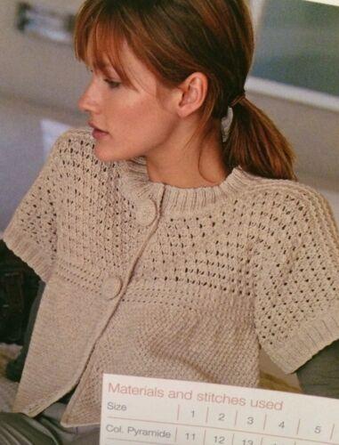Ladies Trapeze Jacket  Knitting Pattern