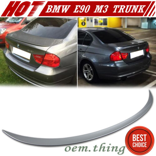 "/""SHIP OUT TODAY/"" PAINTED BMW E90 SEDAN M3 TYPE TRUNK SPOILER WING #A52"