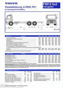 Anleitungen & Handbücher Vorsichtig Volvo Fm12 6x2 Fahrgestell Parabelfederung A-ride Pk1 25 T Prospekt 12/98 1998