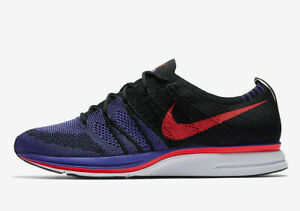 9fde3a7c366e Nike Flyknit Trainer RAPTORS PURPLE SIREN RED BLACK WHITE AH8396-003 ...
