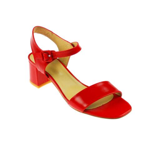 Perlato Damen Sandale Leder rot