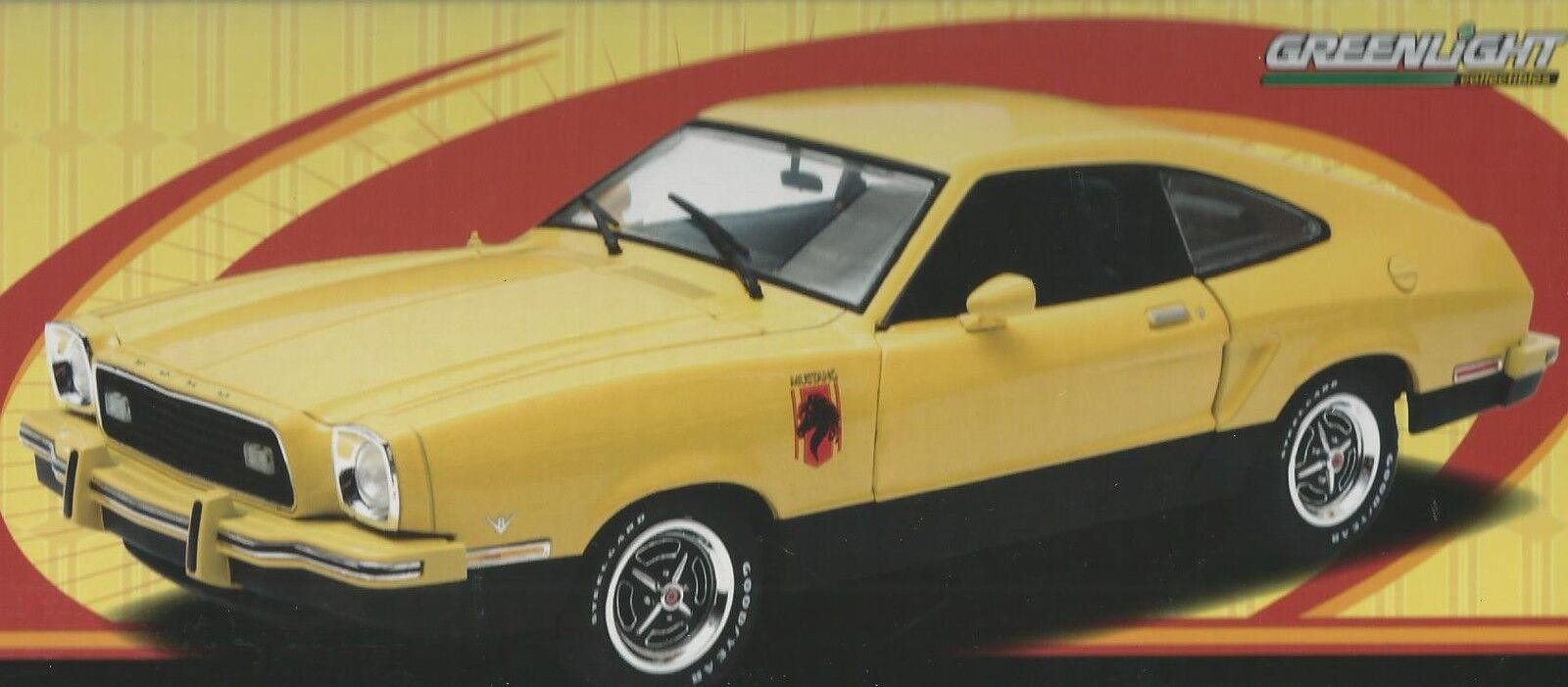 18 Grünlight auto druckguss ford mustang ii hengst 1976 gelbe kunst 12889