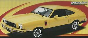 1:18 Greenlight moulage mécanique sous pression Ford Mustang II Stallion 1976 Jaune Art. 12889