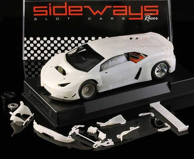 SIDEWAYS SWCAR01K LAMBORGHINI HURACAN GT3 WHITE WHITE WHITE KIT NEW 1 32 SLOT CAR f68b98