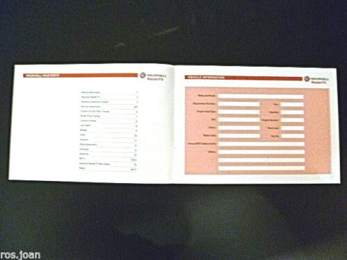 VAUXHALL VXR CORSA ASTRA VECTRA MERIVA servizio registro della cronologia Nuovo di Zecca
