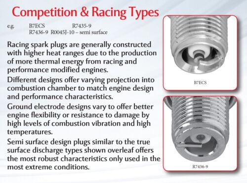 R7434-9 ngk racing spark plug iridium//platine 4658 new in box!