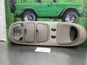 Ford Excursion Overhead Top Roof Console Map Light Display Brown Tan Ebay