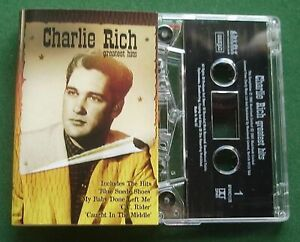 Charlie Rich Greatest Hits inc Blue Suede Shoes + Cassette Tape - TESTED