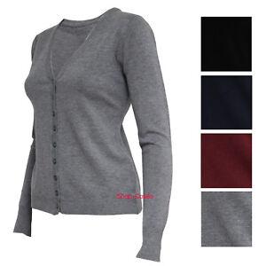 GUESS COLLECTION Vintage nero lana maglione maglia con Zip, sz. M