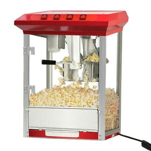Charming Image Is Loading Durable 8oz Deluxe Popcorn Popper Maker Machine Red