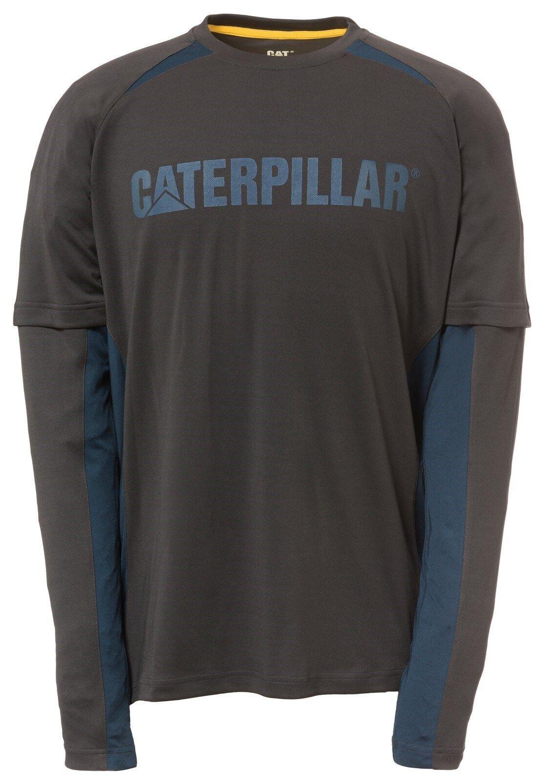 CAT Caterpillar SPEDIZIONE maniche lunghe t-shirt uomo durevole durevole durevole lavoro Maglietta eca448