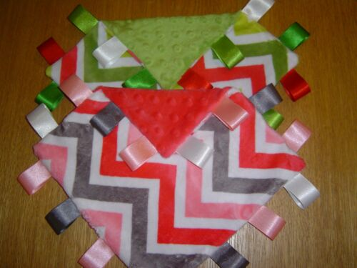 Chevron Taggy Blankets Watermelon or Jade Supersoft!