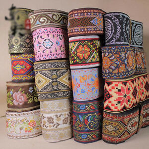5-10-Yards-Vintage-Chinese-Jacquard-Ribbon-Braid-Trim-Embroidery-DIY-Cloth-Craft