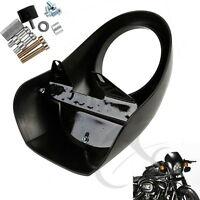 Black Head Light Front Visor Fairing Mask Cover For Harley Sportster Motorcycle