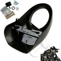 Headlight Fairing Front Cowl Cafe Racer For Harley Sportster Dyna Glide Fx Xl