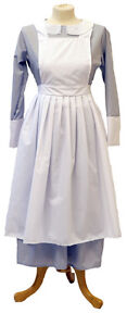 VICTORIAN-HISTORICAL-1940S-WARTIME-Grey-Nanny-Governess-outfit-sizes-8-PLUS