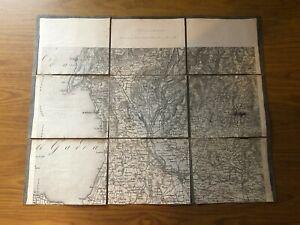 Cartina Topografica Lago Di Garda.Antica Cartina Geografica Carta Topografica Lago Di Garda Costermano Lazise Ebay