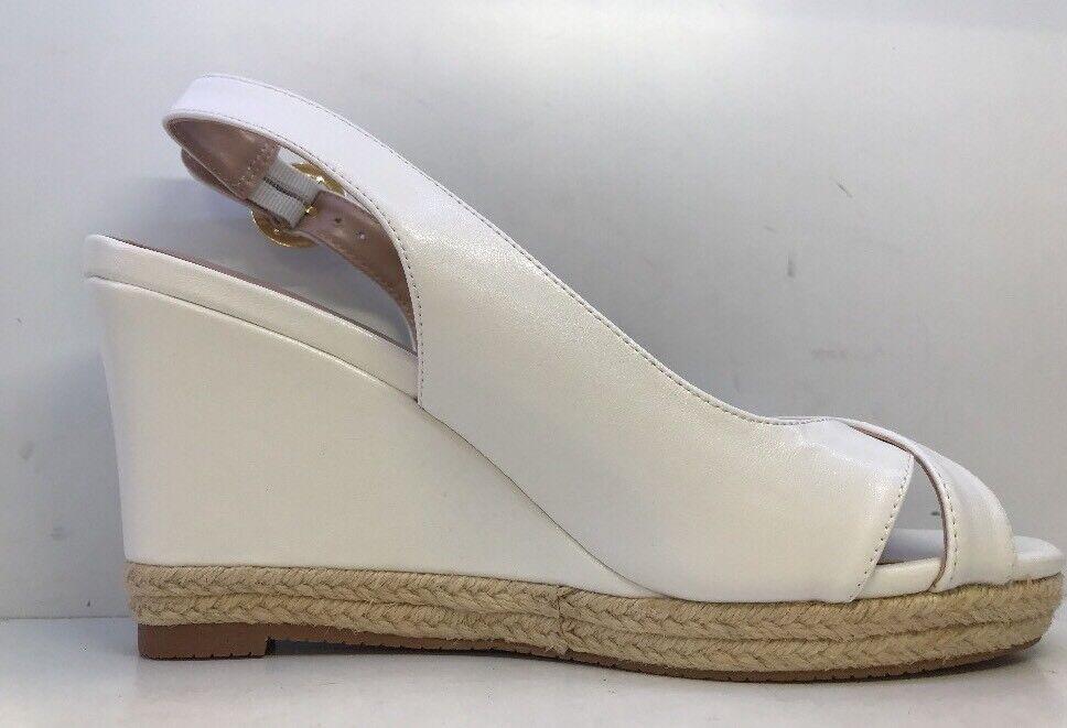 Carvela Comfort Damenschuhe Sling Weiß Open Toe Buckled Sling Damenschuhe Back Wedges Eu 40 458910
