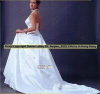 Sub=$20! Nwt RQ Simple But Elegant* White Wedding Gown Dress Size 10 8/12 47e