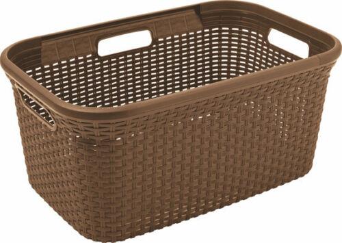 CURVER STYLE RATTAN OPTIK Wäschekorb Wäsche Kiste Korb Box 45L V110