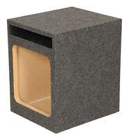 Q Power Hd112 12 Single Heavy Duty Vented Square Subwoofer Sub Enclosure Box