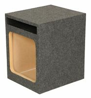 Q Power Hd112 12 Single Heavy Duty Vented Square Subwoofer Sub Enclosure Box on sale