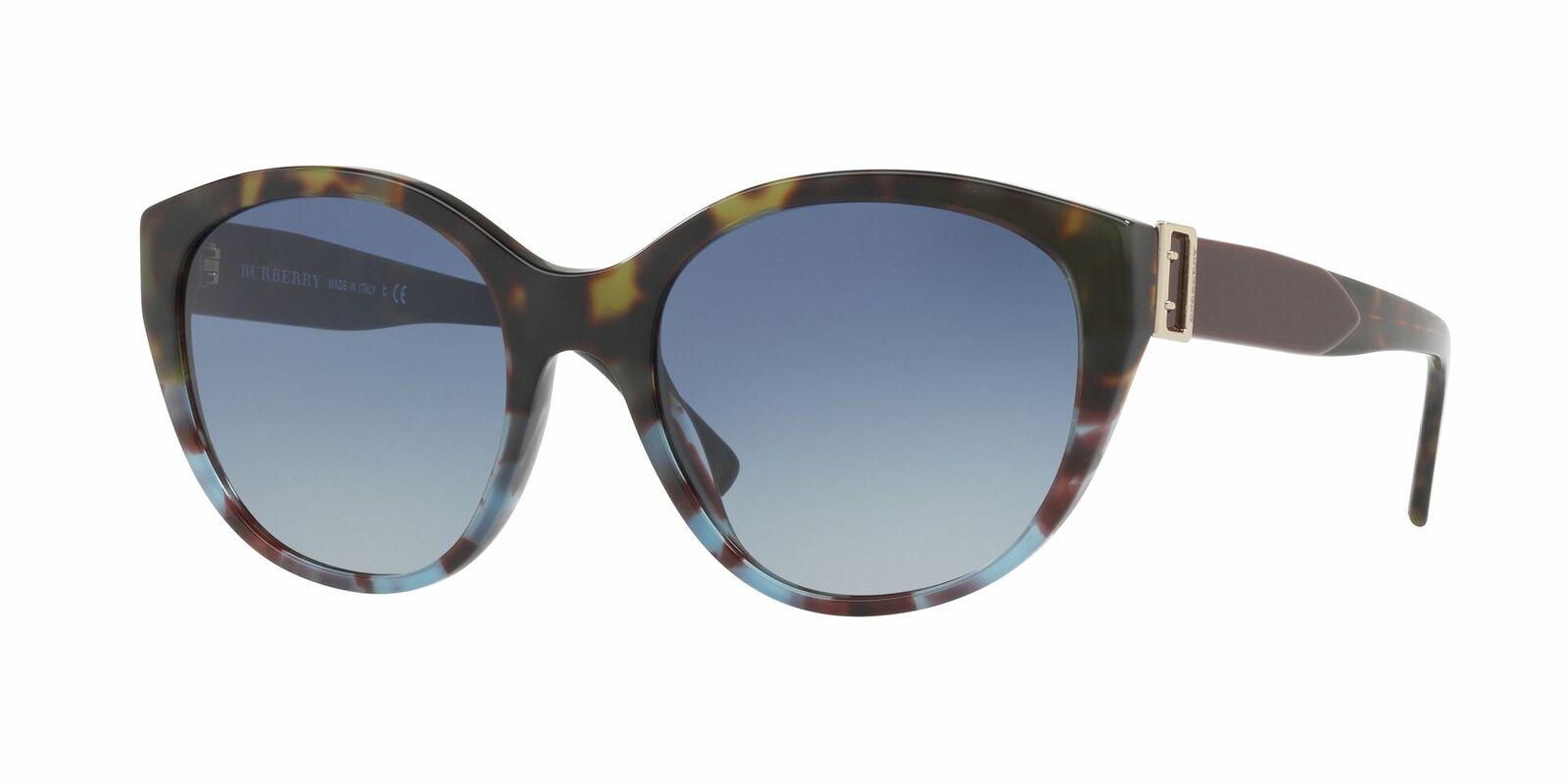 Authentic Burberry 4242 - 36364L Sunglasses GREEN HAVANA/BLUE HAVANA *NEW* 55mm