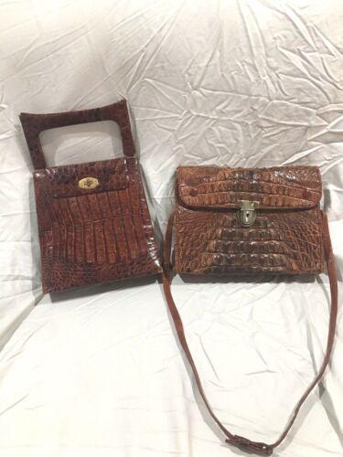 Lot Of 2 Vintage Bags- Gen Alligator Lizard Skin P