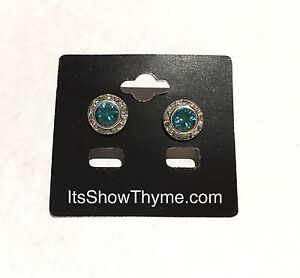 Image Is Loading Horse Show Fashion Earrings Pageant Blue Zircon