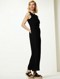 Ex Marks and Spencer Black Multiway Sleeveless Jumpsuit Size 8-22