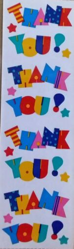 Mrs Grossman`s  THANK YOU Stickers  Full Sheet 1992