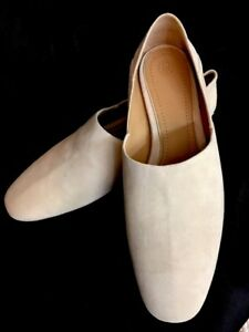 The-Row-Shoe-Bone-Suede-Shoe-Collapsible-Heal-Size-40-New