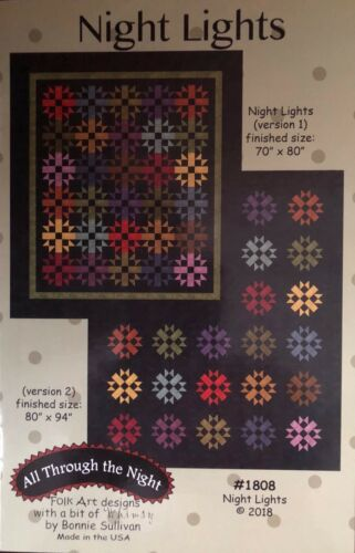 Night LIghts by Bonnie Sullivan using Woolies Flannel Color Wash 2 Quilt Pattern