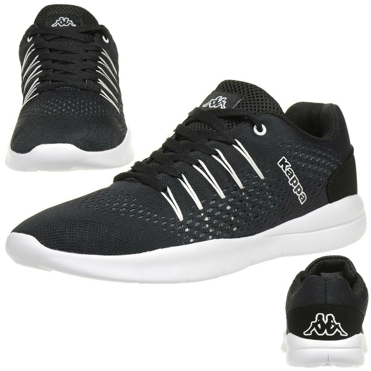 3d6a17f6fc014 Kappa Nexus Baskets Unisexe Unisexe Unisexe Chaussures de Tennis Noir    Terrific Value 08ea22