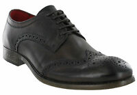 Brown Brogue Shoes Base London Leather Coniston 5 Eye Mens Formal Lined Lace Ups