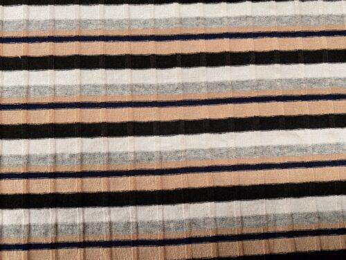 Per Metre Multi Colour Stripe Lycra Rib Knit Jersey Dress Fabric