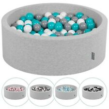 KiddyMoon New Soft Baby Ball Pit Foam Pool 90x30 with 200/300 Balls,Light Grey