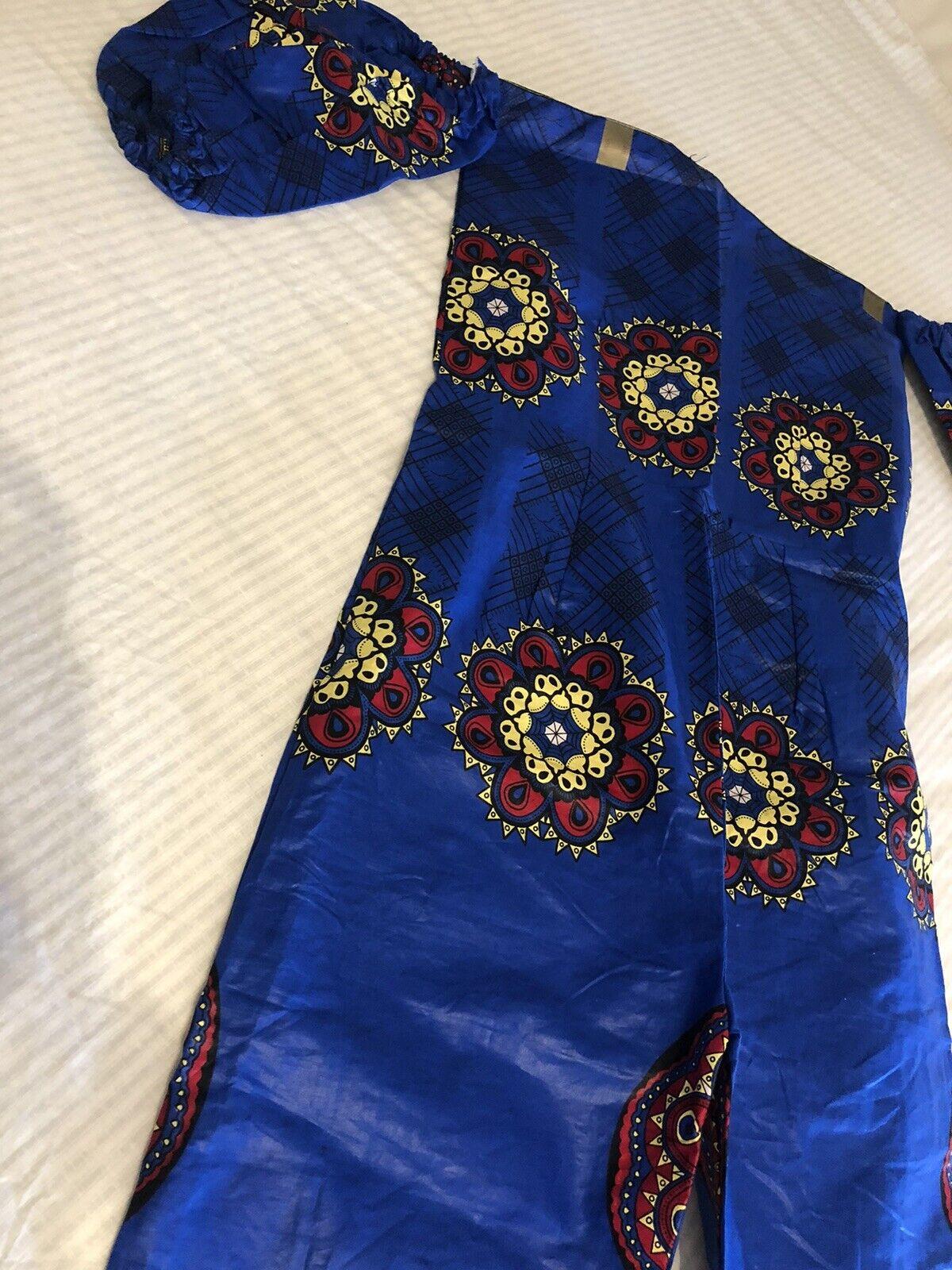 Beautiful African Print Lady Jumpsuit. Colourful Ankara Ladies Jumpsuit Size 12