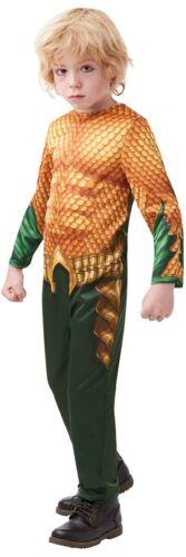 Boys Classic Aquaman DC Comics Superhero TV Book Film Fancy Dress Costume Outfit