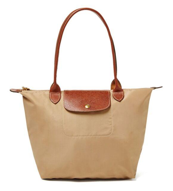 9338040727 Longchamp Le Pliage Medium Beige Nylon Tote 2605089841 Authentic for ...