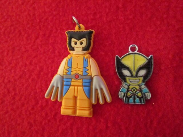 Two Wolverine Charms Jewelry Making Legos - Make your Own Jewelry Marvel Comics