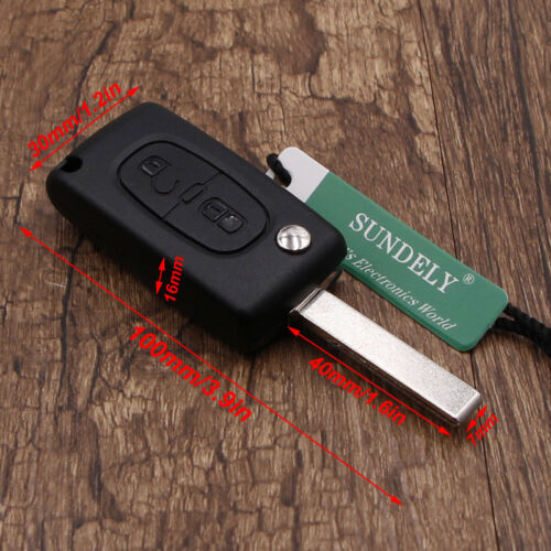 New 2 Buttons Car Flip Remote key 434mhz HU83 PCF7941 For Citroen For Peugeot