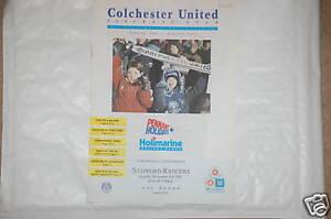 Colchester-V-Stafford-Rangers-Programa-2nd-Nov-1991-Co