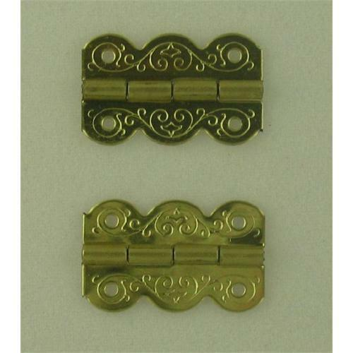 Pack of 50 Pin Fixing Brassed Fancy Hinges 19 x 13mm