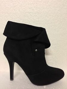 WOMENS-SHOES-034-SAGA-034-BY-VERALI-HOT-NEW-HIGH-HEEL-ALMONDTOE-ANKLE-BOOTS-BLK-MICRO