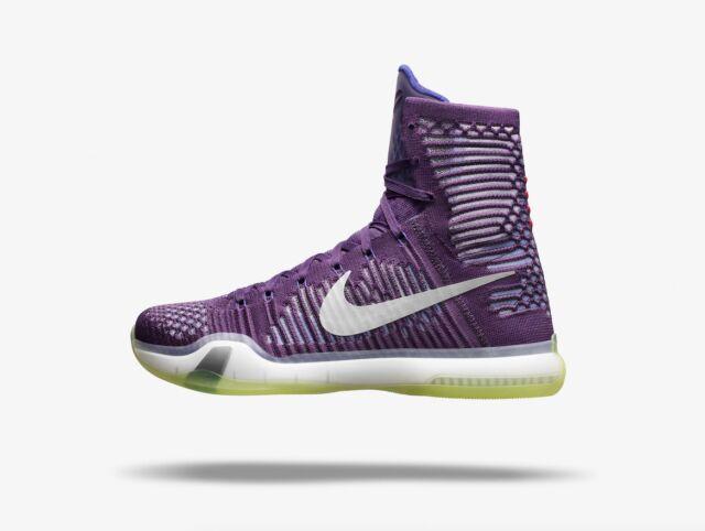 los angeles 1bdc4 8bf90 Nike Kobe 10 X Elite Flyknit Lakers Purple Size 9.5. 718763-505 violet rose