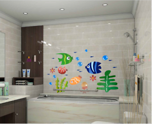Underwater World Wall Stickers For Ceiling Roof Window Mural Decor 42 x 24 cm