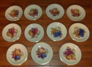 11-Schwarzenhammer-Bavaria-Fruit-Design-Gold-Trim-7-3-4-034-Salad-Dessert-Plates