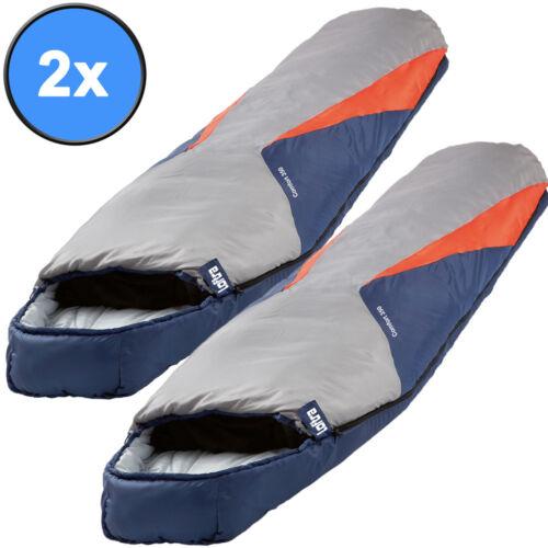 23°C XXL 2000g Comfort Schlafsack Sack Camping Zelt NEU 2x Mumienschlafsack