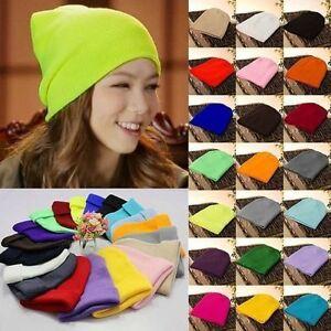 Men-039-s-Women-Knit-Ski-Cap-Hip-Hop-Blank-Color-Winter-Warm-Unisex-Hat